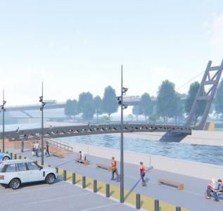Автоматизация пешеходного моста